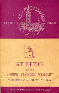 Sportboken - Programme Athletics 7.8 XIVth Olympiad London 1948
