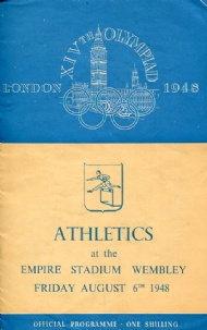 Sportboken - Programme Athletics 6.8 XIVth Olympiad London 1948