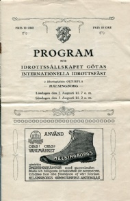 Sportboken - Program för IS Götas internationella idrottsfäst 1913