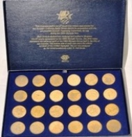 Sportboken - Coins Games of the XXIIIrd Olympiad Los Angeles 1984