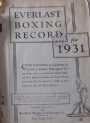Boxning Everlast Boxing Record Book 1931