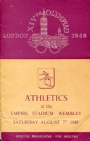 PROGRAM Programme Athletics 7.8 XIVth Olympiad London 1948