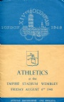PROGRAM Programme Athletics 6.8 XIVth Olympiad London 1948