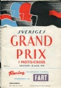 PROGRAM Sveriges Grand Prix i moto-cross 1954