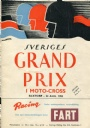 PROGRAM Sveriges Grand Prix i moto-cross 1952