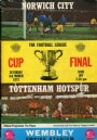 Fotboll Program League Cup Final Norwich City-Tottenham Hotspur 1973