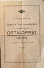 PROGRAM Program Gotaloppet 100 km. 1934