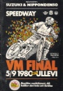 PROGRAM Program Speedway VM-final Ullevi 1980