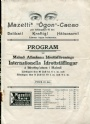 Old Program Program Internationella idrotttäflingar 10-11 juni 1909