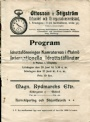 Old Program Program vid IFK:s internationella idrottstäflingar 26-27 juni 1909