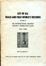 All Rare Books List of all Track and Field Worlds records 1913-1945