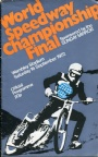 PROGRAM World speedway championship Final 1972