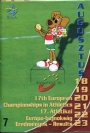 PROGRAM Programme 17th European Athletics Championships 18/8-23/8  1998 Budapest