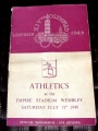 PROGRAM Programme Athletics 31.7 XIVth Olympiad London 1948